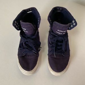 🌸Women's Supra High Top Navy Size 9